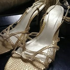 Strappy gold Heels by Talbots size11